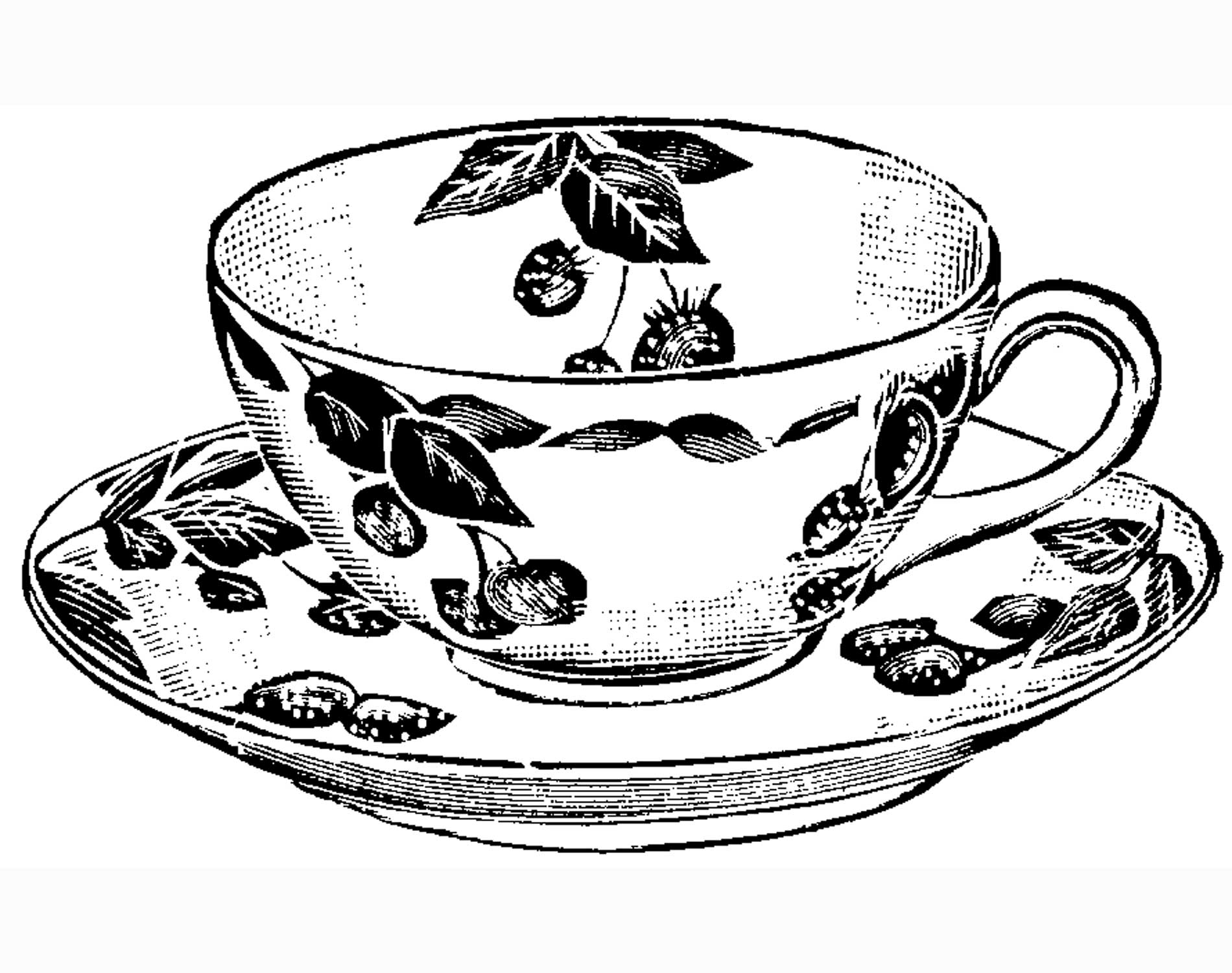 It is a photo of Impertinent Teacup Coloring Pages